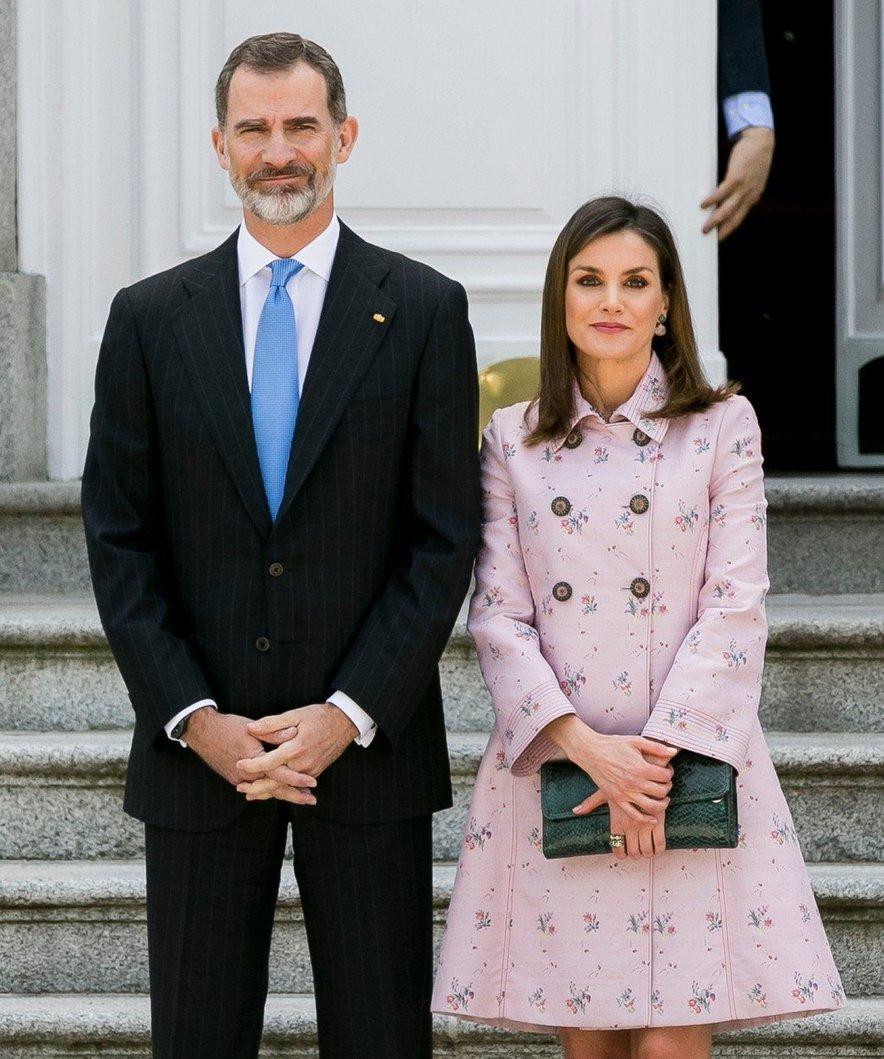 Leonorina starša, kralj Felipe VI. in kraljica Letizia.