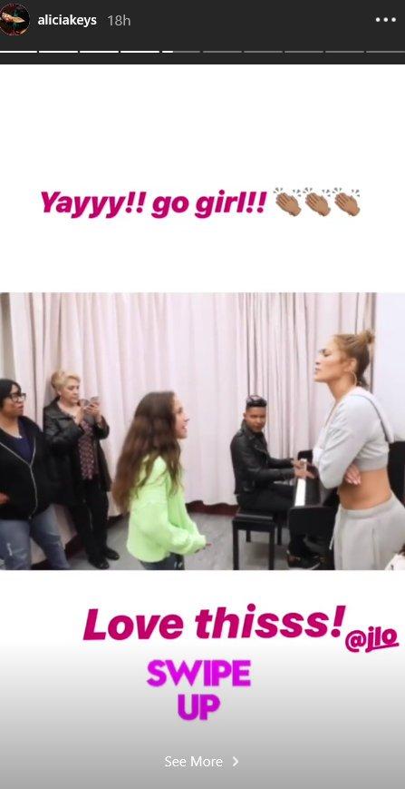 Alicia Keys je bila navdušena nad pevskim talentom male Emme.