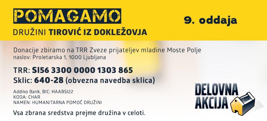 Tudi vi lahko pomagate družini Tirović.