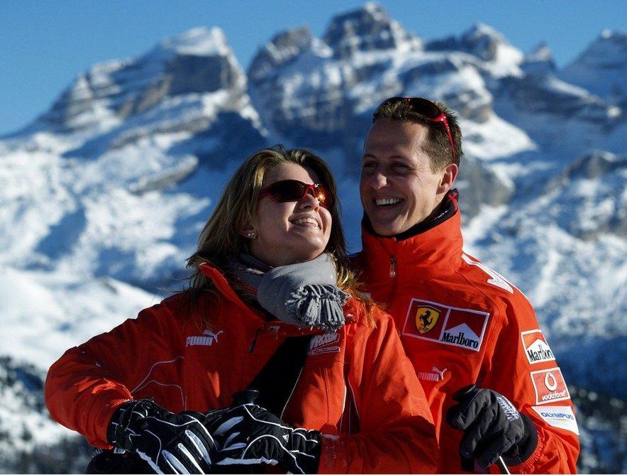 Corinna in Michael leta 2005 v Madonni di Campiglio.