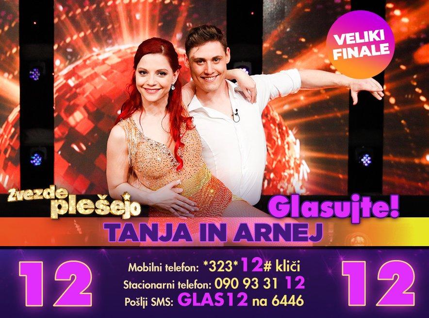 Glasuj za Tanjo in Arneja na številki 12.