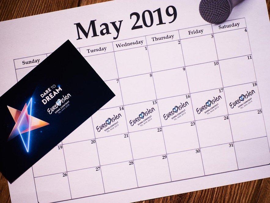 Izbor za pesem Evrovizije bo potekal med 14. in 18. majem v Tel Avivu.