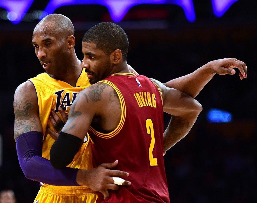 Kyrie Irving in Kobe Bryant sta se mnogokrat pomerila na tekmah lige NBA.
