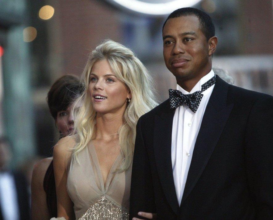 Tiger Woods in Elin Nordegren