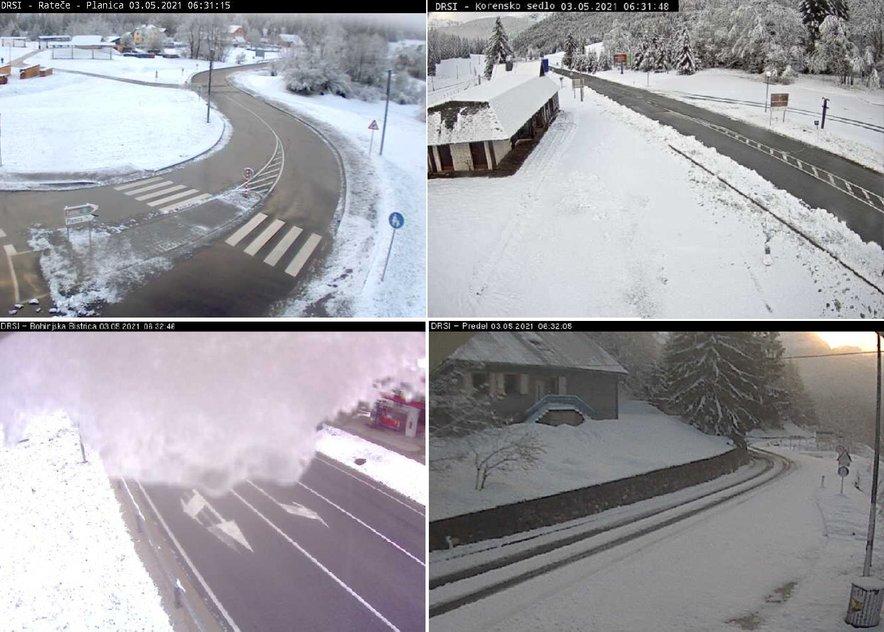 Zimske razmere na Gorenjskem