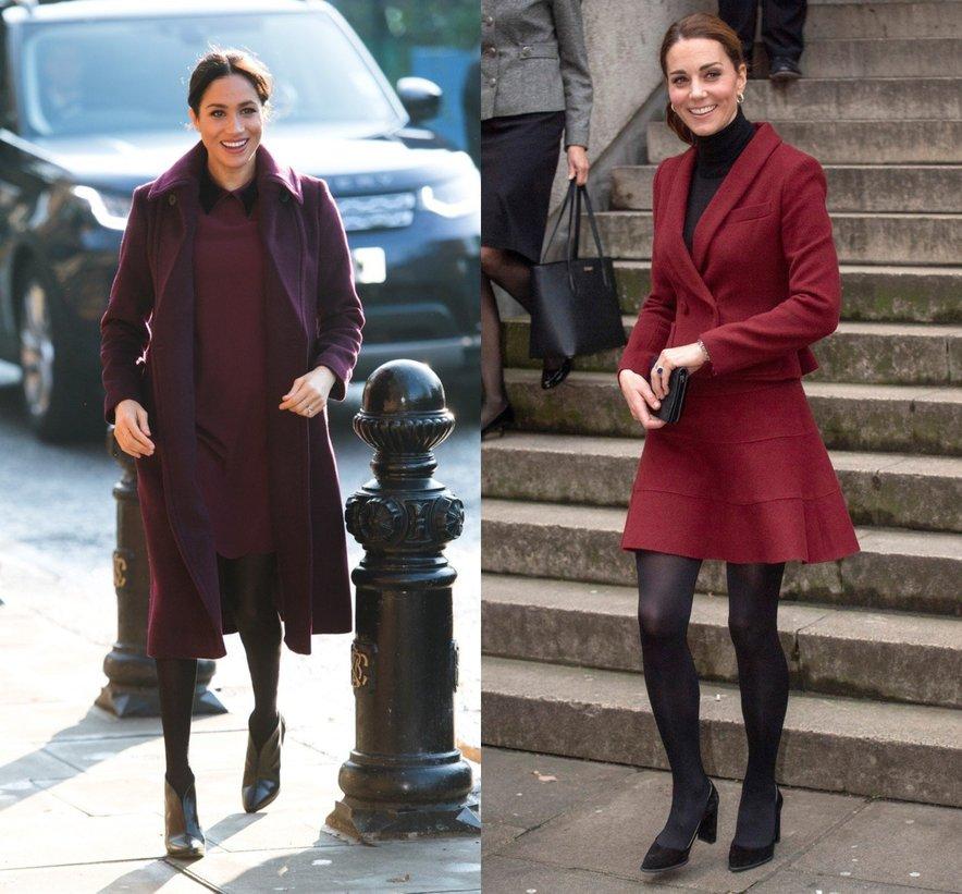 Kate Middleton in Meghan Markle