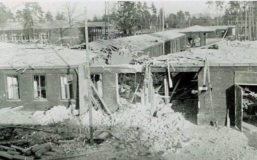 Gasilski dom, ki so ga zbombardirali zavezniki.