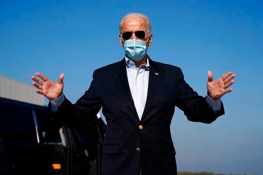 """Joe Biden obljublja, da bo predsednik vseh. Ljudem se je zahvalil, ker so glasovali, """"čeprav je bilo politično okolje nevarno""""."""