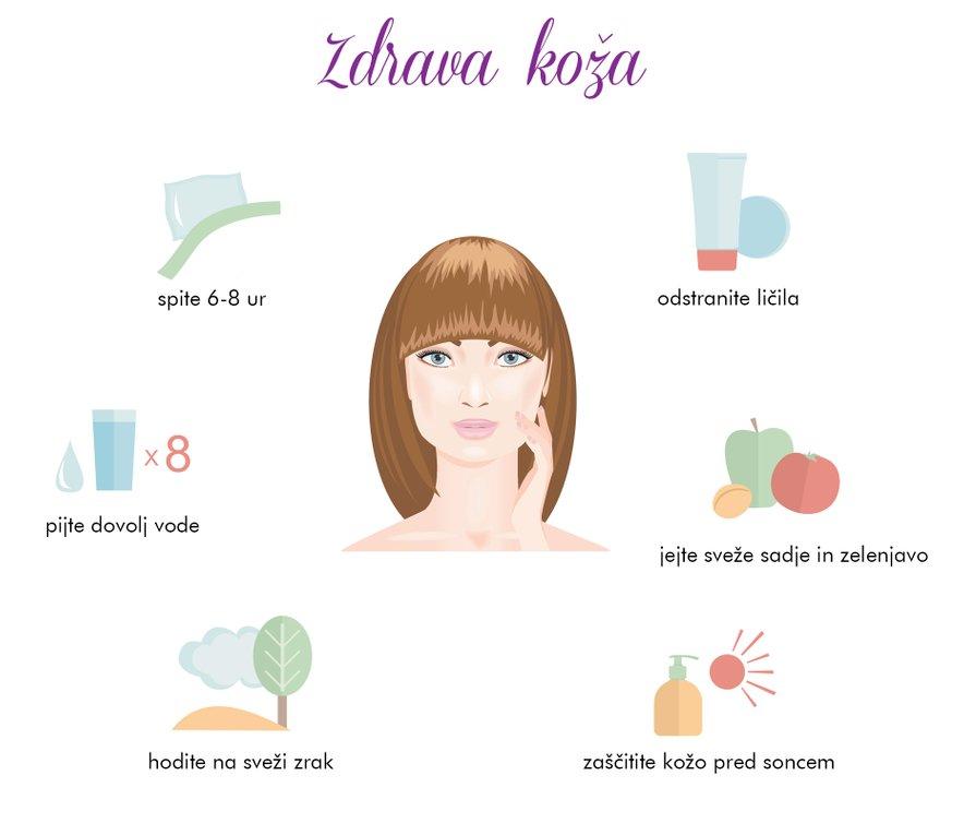 Nekaj nasvetov za zdravo kožo ...
