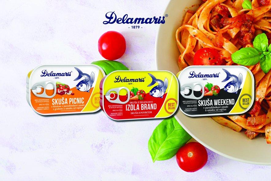 Konzervirane ribe Delamaris so brez konzervansov, aditivov, brez barvil in ojačevalcev okusov. Njihova obstojnost je zagotovljena zaradi hermetičnega zaprtja in sterilizacije.