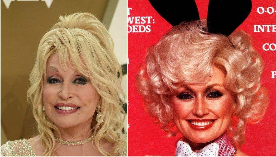 Dolly Parton danes in pred leti, ko je krasila naslovnico revije za moške.