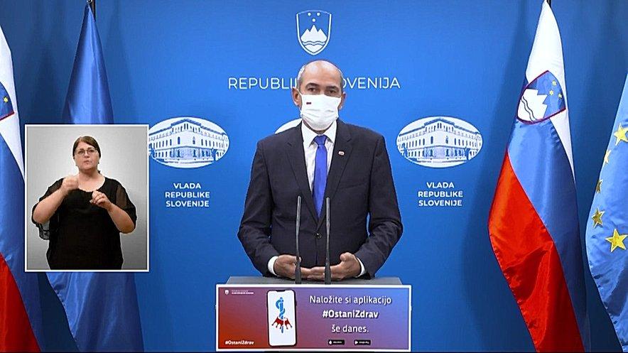 Premier Janez Janša v video nagovoru