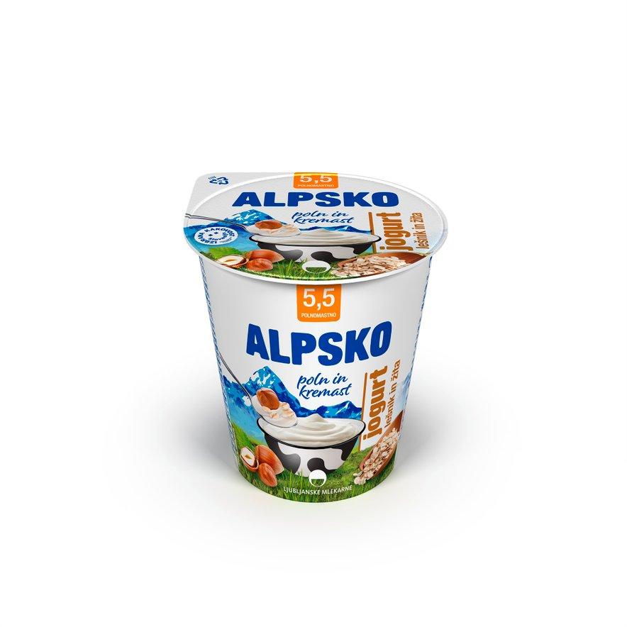 Jogurt Alpsko lešnik in žita