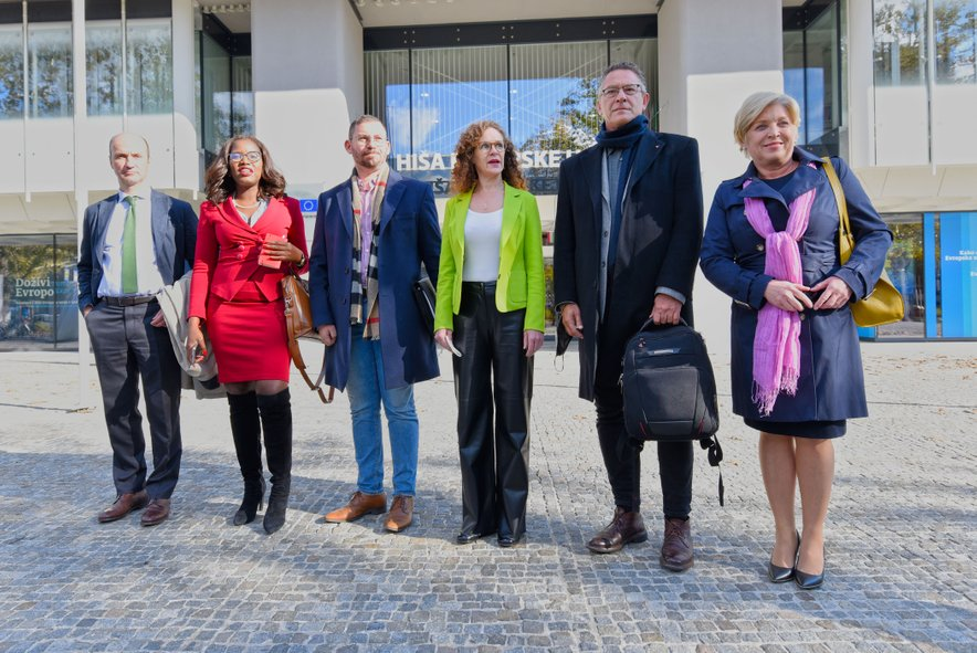 Delegacijo sestavljajo Sophie in 't Veld (Nizozemska), Romana Tomc (Slovenija), Cyrus Engerer (Malta), Tineke Strik (Nizozemska), Nicolaus Fest (Nemčija), Assita Kanko (Belgija), Konstantinos Arvanitis (Grčija) in Mikulaš Peksa (Češka).