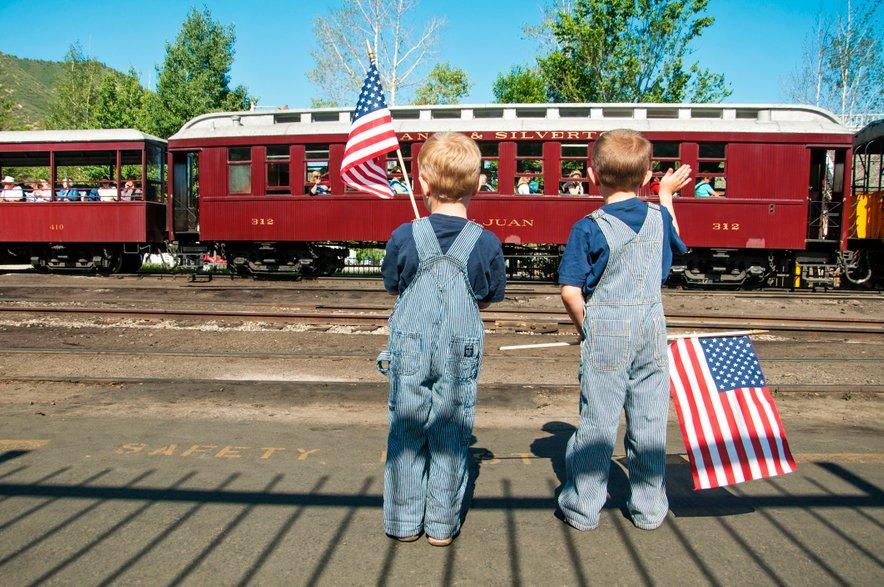 Ameriška zastava je bila plod šolskega projekta.