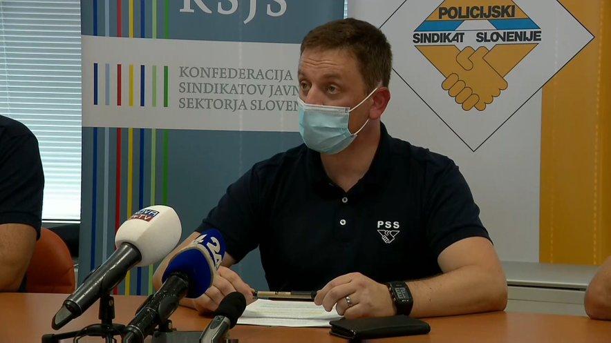 Predsednik Policijskega sindikata Slovenije Rok Cvetko.