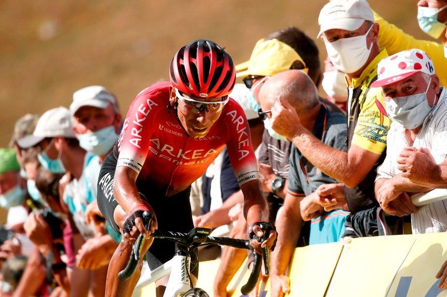 Quintana (na fotografiji) je razočaral med dirko po Franciji, kjer je javnost razburila tudi preiskava hotela njegove ekipe.