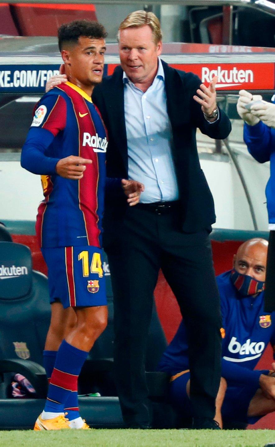 Philippe Coutinho in Ronald Koeman