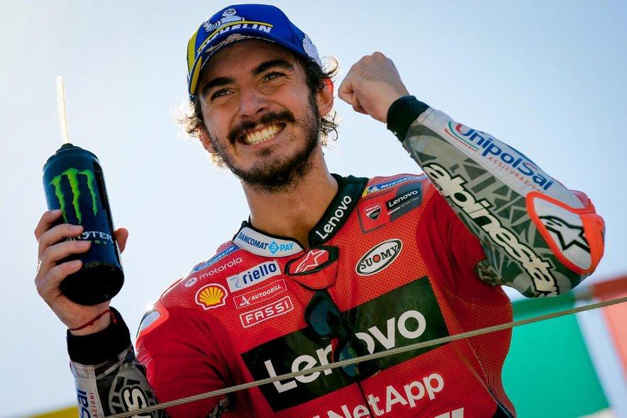 Po prvi zmagi Francesca Bagnaie (Ducati Lenovo Team) v elitnem motociklističnem razredu motoGP v taboru italijanskega dirkača veselju ni bilo videti konca.