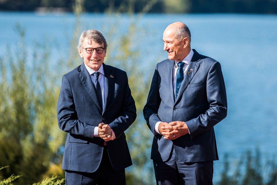 David Sassoli in Janez Janša