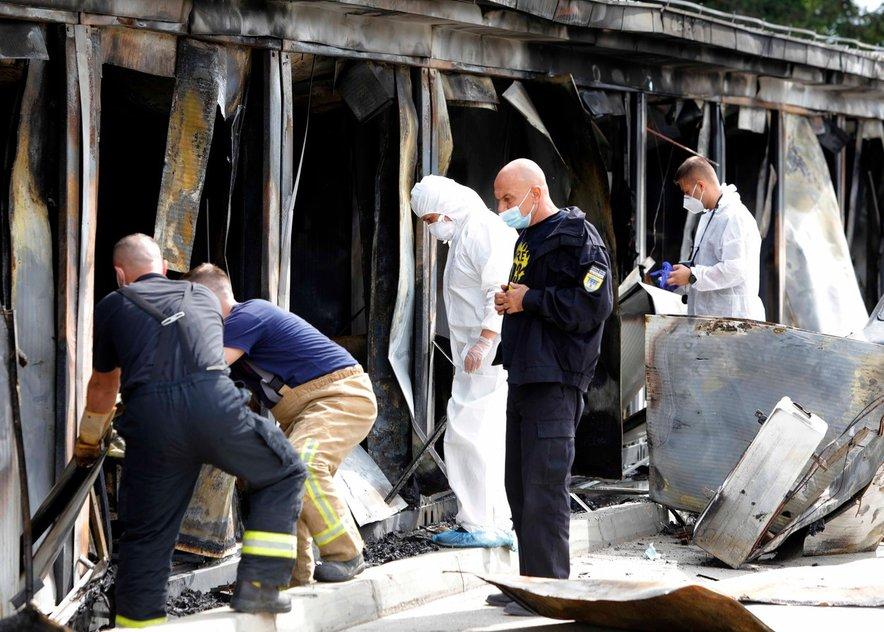 Preiskovalci vzrok požara bolnišnice v Tetovu še ugotavljajo.