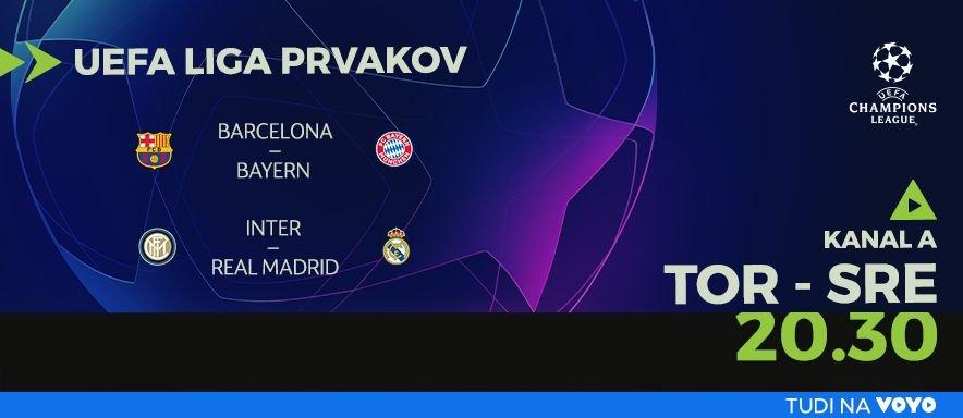 Liga prvakov UEFA: Barcelona vs. Bayern München