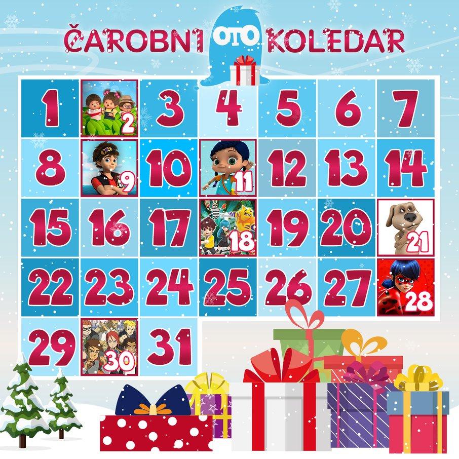 Čarobni OTO koledar prinaša čudovite nagrade.