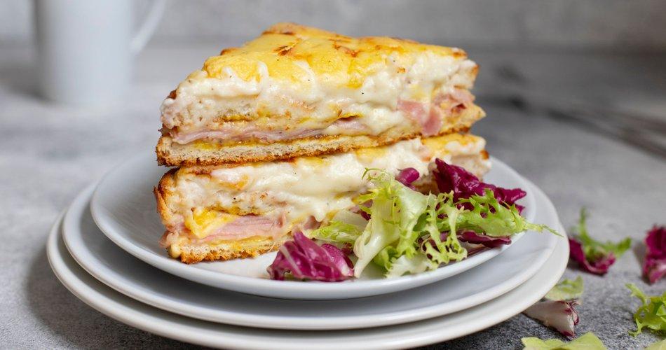 Francoski topli sendvič croque monsieur