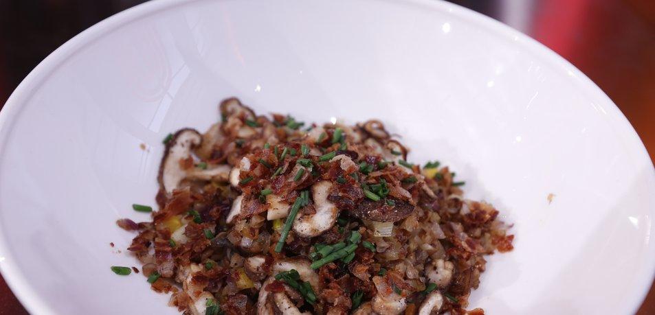 Ajdova rižota z gobami