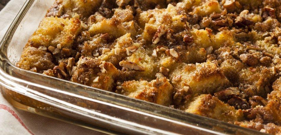 Kruhov narastek z jabolki in orehi