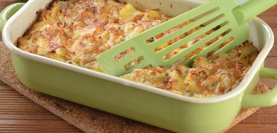 Zapečen krompir in cvetača z gorgonzolo