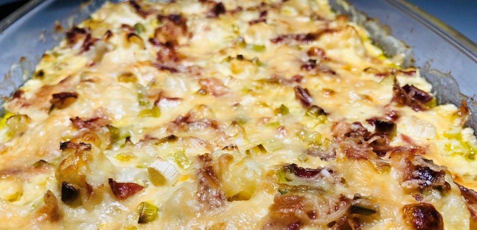 Cvetača s panceto in sirom iz pečice